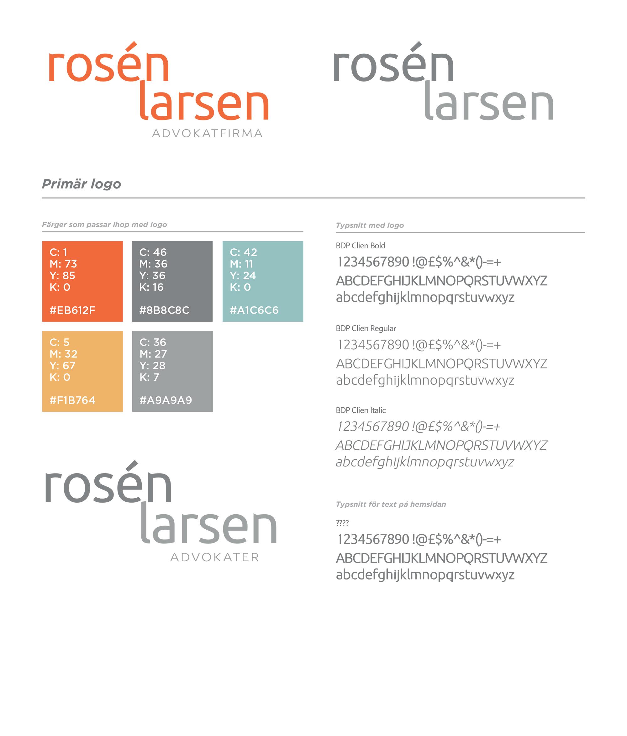 Grafisk profil – Rosén Larsen Advokater